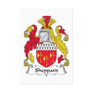 Escudo de la familia de Sheppard Impresión En Lienzo Estirada
