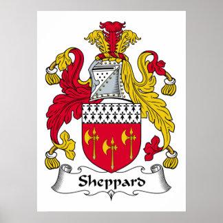 Escudo de la familia de Sheppard Póster