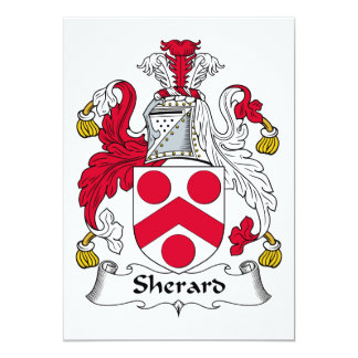 Escudo de la familia de Sherard Invitación