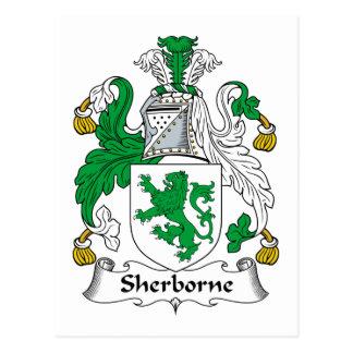 Escudo de la familia de Sherborne Tarjeta Postal