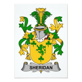 """Escudo de la familia de Sheridan Invitación 5"""" X 7"""""""