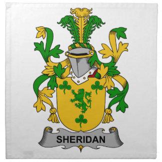 Escudo de la familia de Sheridan Servilleta