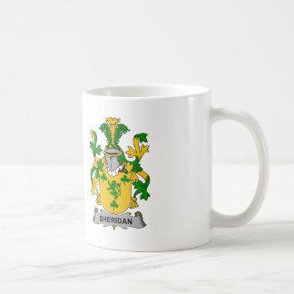 Escudo de la familia de Sheridan Taza De Café