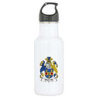Escudo de la familia de Sheriffe Botella De Agua