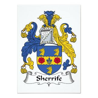 Escudo de la familia de Sheriffe Invitacion Personalizada