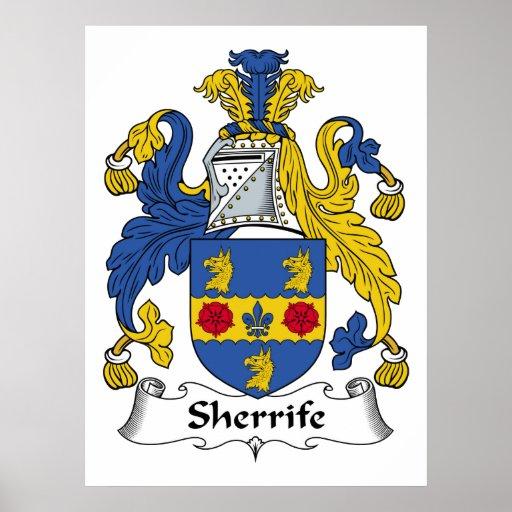 Escudo de la familia de Sheriffe Póster