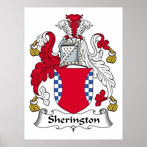Escudo de la familia de Sherington Póster