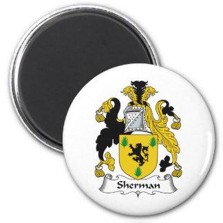 Escudo de la familia de Sherman Imán Redondo 5 Cm