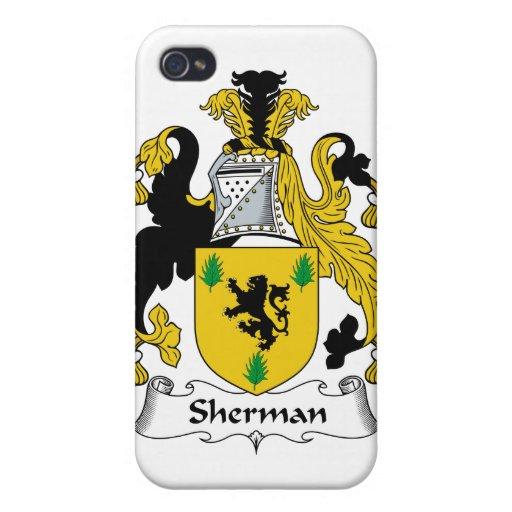 Escudo de la familia de Sherman iPhone 4 Fundas