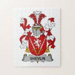 Escudo de la familia de Shevlin Rompecabezas Con Fotos