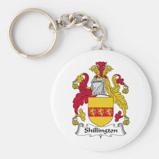 Escudo de la familia de Shillington Llavero Redondo Tipo Pin