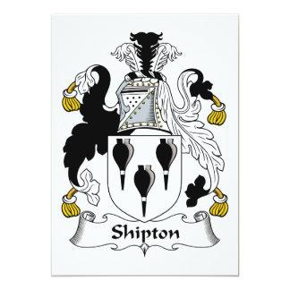 Escudo de la familia de Shipton Invitación