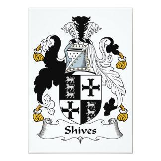 Escudo de la familia de Shives Invitación 12,7 X 17,8 Cm