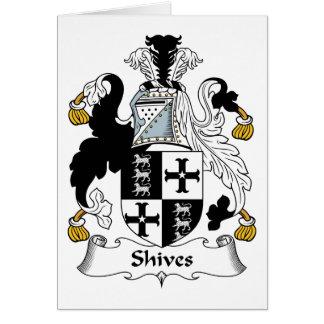 Escudo de la familia de Shives Tarjeton