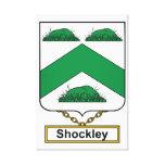 Escudo de la familia de Shockley Impresión De Lienzo