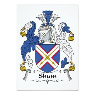 Escudo de la familia de Shum Comunicado