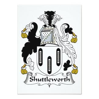 Escudo de la familia de Shuttleworth Invitacion Personalizada
