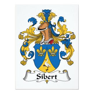 Escudo de la familia de Sibert Invitación 16,5 X 22,2 Cm