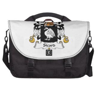 Escudo de la familia de Sicard Bolsas De Portatil