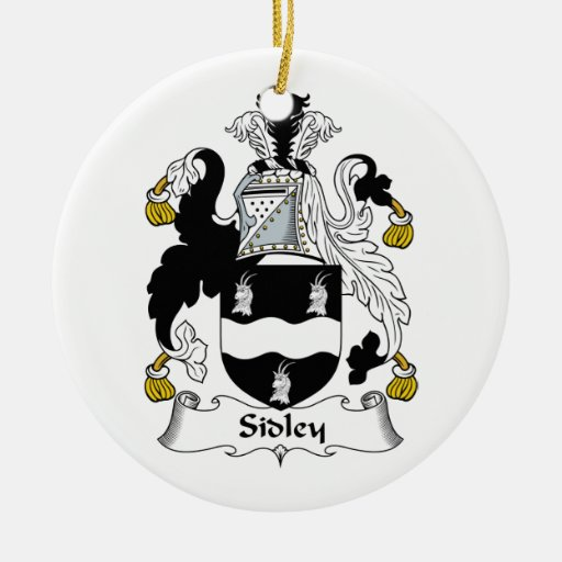 Escudo de la familia de Sidley Adorno Redondo De Cerámica