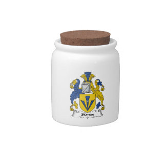 Escudo de la familia de Sidney Platos Para Caramelos