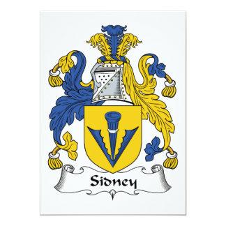 Escudo de la familia de Sidney Invitación 12,7 X 17,8 Cm