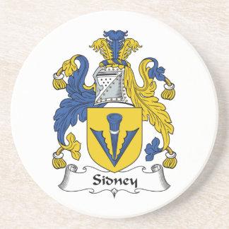 Escudo de la familia de Sidney Posavasos Diseño