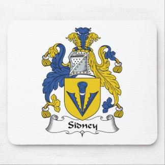 Escudo de la familia de Sidney Tapetes De Ratón
