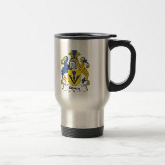 Escudo de la familia de Sidney Tazas De Café