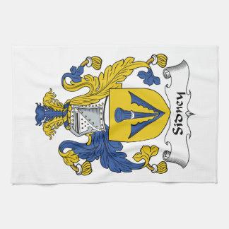 Escudo de la familia de Sidney Toalla De Mano
