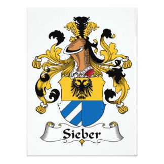 Escudo de la familia de Sieber Invitación 16,5 X 22,2 Cm