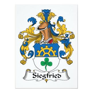 Escudo de la familia de Siegfried Invitación 16,5 X 22,2 Cm