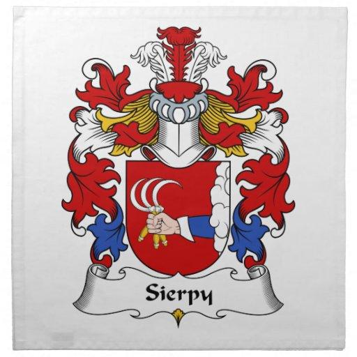 Escudo de la familia de Sierpy Servilletas