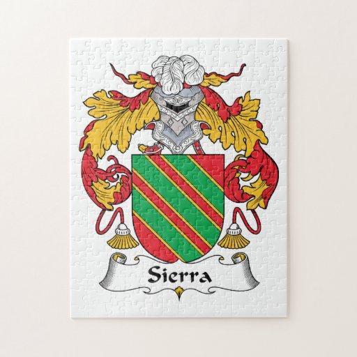 Escudo de la familia de Sierra Rompecabeza Con Fotos