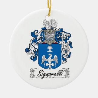 Escudo de la familia de Signorelli Adornos De Navidad