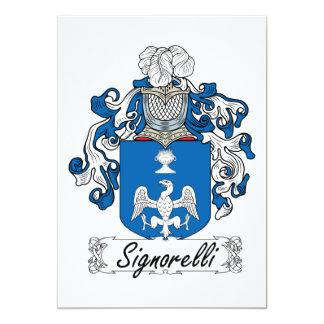 Escudo de la familia de Signorelli Invitación Personalizada