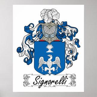 Escudo de la familia de Signorelli Posters