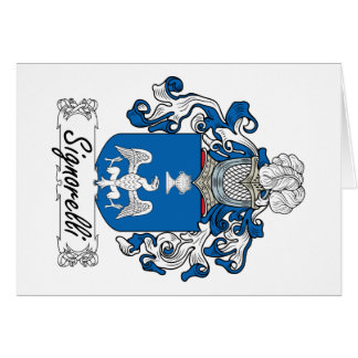 Escudo de la familia de Signorelli Tarjetón