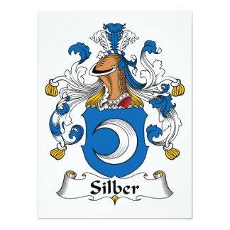 Escudo de la familia de Silber Invitación 16,5 X 22,2 Cm