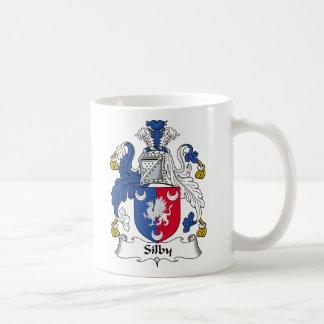 Escudo de la familia de Silby Tazas De Café