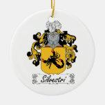 Escudo de la familia de Silvestri Ornamento De Navidad