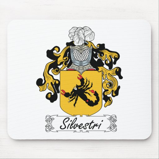 Escudo de la familia de Silvestri Tapete De Ratones