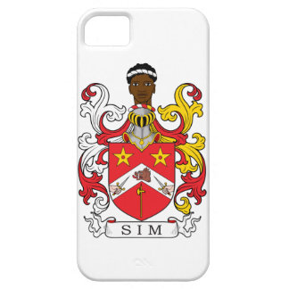 Escudo de la familia de Sim iPhone 5 Cárcasa