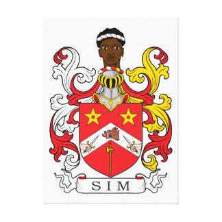 Escudo de la familia de Sim Impresión De Lienzo