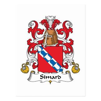 Escudo de la familia de Simard Postal