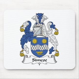 Escudo de la familia de Simcoe Alfombrilla De Ratones