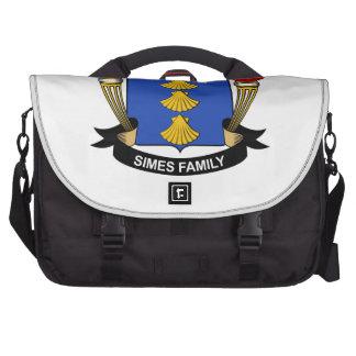 Escudo de la familia de Simes Bolsas De Ordenador