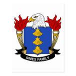 Escudo de la familia de Simes Postal