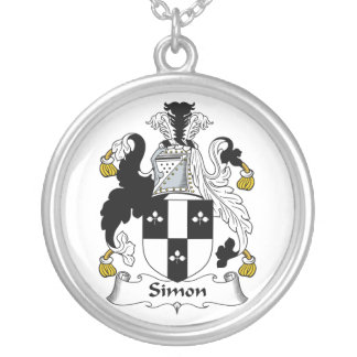 Escudo de la familia de Simon Colgante