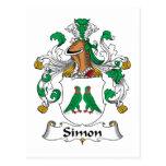 Escudo de la familia de Simon Tarjeta Postal